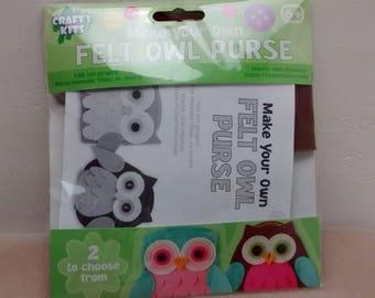 Felt Owl Purse Kit