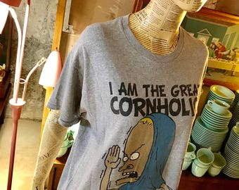 Large Beavis and Butt-Head T-shirt I am the Great Cornholio