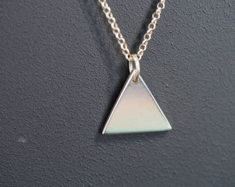 Handmade Sterling Silver Minimalist Pendant - Triangle