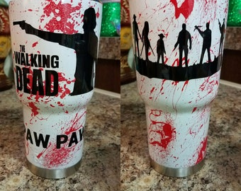 Custom Hyrdrodipped Walking Dead 30oz RTIC