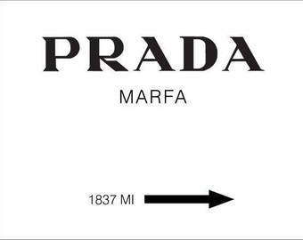 Prada Marfa Canvas Print Art