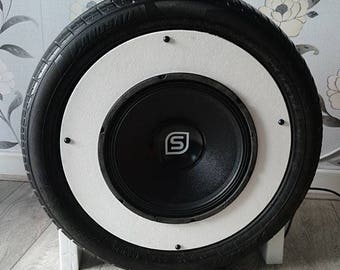Bluetooth tyre subwhoofer speaker- Built from recycled tyre!