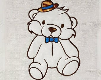 Bear Wearing Hat.  Machine Embroidery Design.  Embroidery Design.
