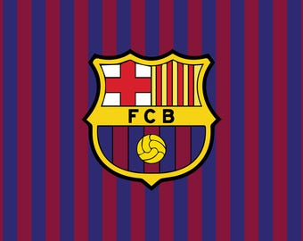 PRINTED Barca FC Birthday Party Backdrop - Barcelona Futbol Club Soccer Birthday Party Background - Barca Soccer Party Banner Decor