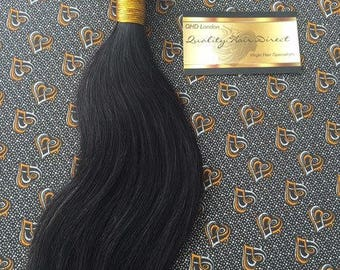 Brazilian Virgin Human Hair Wefts Silky Straight 100g Colour 1b-2