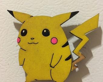 Wooden Pokémon Pikachu Magnet