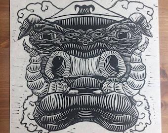 Pig | Linocut Print