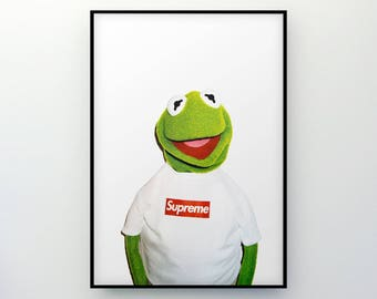 Supreme x Kermit the Frog A3 Poster