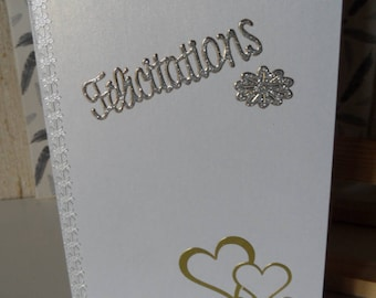 Carte félicitations mariage, wedding card