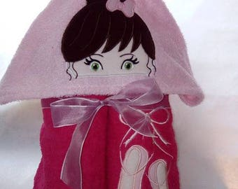 Cape of bath ballerina for children 2 to 6 years