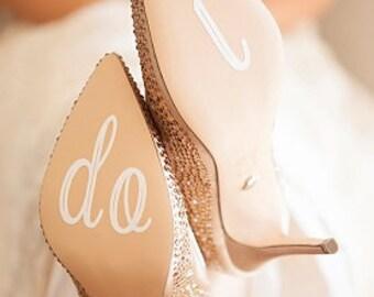 "Wedding ""I Do"" shoe decal"