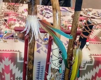 Native American walking stick