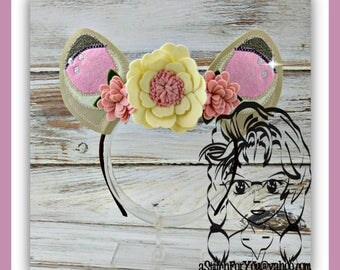 DEER Ears - Baby Bambee's ~ (2 Piece) Character Inspired Headband ~ In the Hoop ~ Downloadable DiGiTaL Machine Emb Design by Carrie