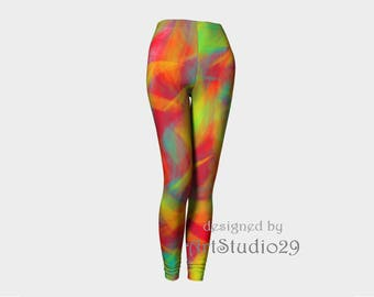 Leggings Rainbow - Abstract Design - original sportswear: jogging, yoga, fitness, outwear -  XSmall, Small, Medium, Large, X-Large