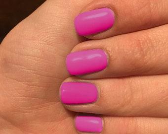 Nail wraps, Hot pink nail wraps, custom colored nails, nail polish wraps, pink nail wraps, red nail wraps, brick red nail wraps