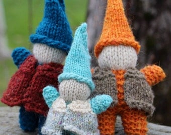 Sweet Knitted Gnome with Vest Knitting Pattern
