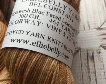 "Elliebelly BFL Constant -  ""Vine & Fig Tree"""