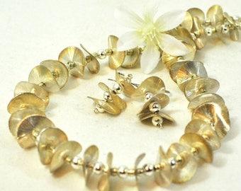 Silver Waves Necklace Set Ride The Big Wave - The Wave Necklace Set -  - Silver Jewelry - Modern Jewelry - Statement Necklace Set