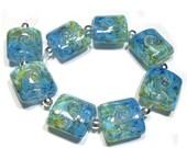 Spring Fling Sale Sea to Sky Nuggets, Handmade Glass Beads, Lampwork Beads, Handmade Lampwork