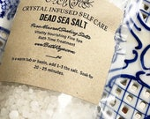 DEAD SEA SALT - Pure Bath Treatment Salt from Israel - Unscented or Complimentary Scent