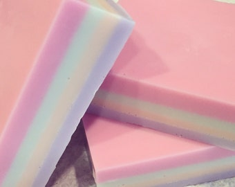 Unicorn Party - Froot Loops cereal scented handmade glycerin soap bar. gift her her. gift for friend. kids. teens. women.