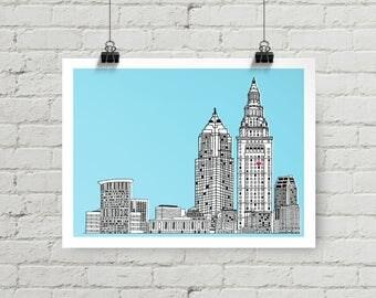 Cleveland Skyline - Giclee Print