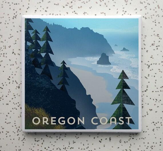 Oregon Coast Tile Coaster