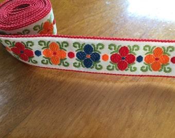 Vintage embroidered floral trim