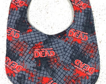 Walking Dead Zombie Baby Infant Bib