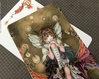 Steampunk Anime Fairy Art Postcard