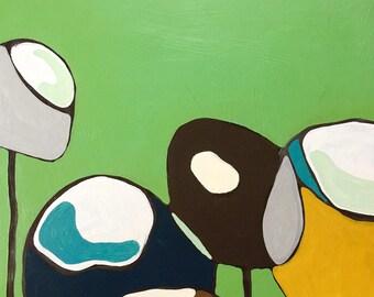 "SALE // Poppy Oil Painting 15"" x 15"""