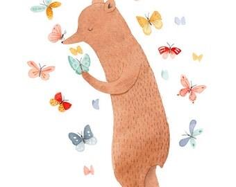 Peaceful Bear 8.5 x 11 Print