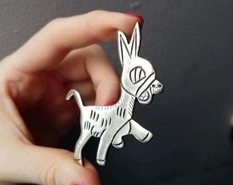 Vintage Taxco Handmade 980 Silver Mexican Southwestern Donkey Brooch by Artemio Navarrette