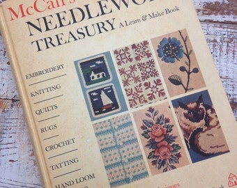 FLASH SALE- Vintage Needlework Treasury-McCalls-Random House Book-Learn and Make-1964