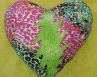 LoVe Stuffins©... GRATEFUL-HEART... Steal Your Heart - Stole My Heart... Grateful Dead BOLT - Throw PiLLoW... Handmade - Ready2Ship...
