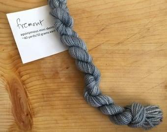 Fremont - eponymous sock yarn, fingering weight yarn mini skein
