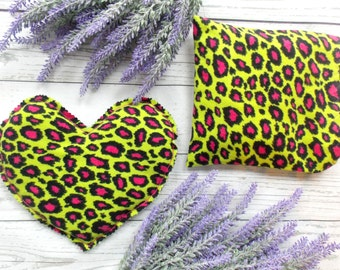 Microwave Rice Bag - Rice Heating Pad - Rice Bag Pack - Valentine for Teen Girl - Animal Print - Flax Seed Bag - Lavender Rice Bag - Hot Pad