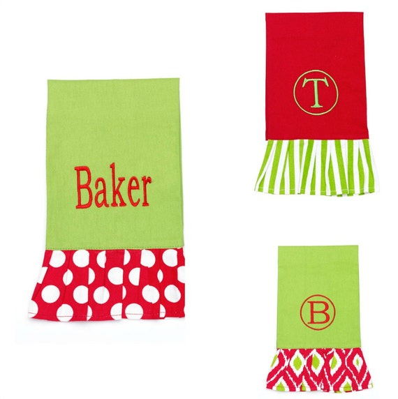 Personalized Christmas Kitchen Towels By Uptownmonogramshop