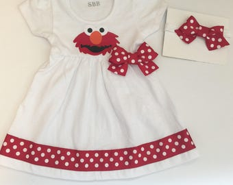 ELMO dress.... elmo party dress--Sesame street inspired