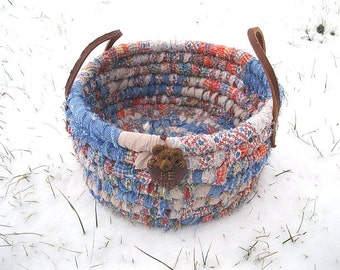 THE BEAR COLLECTION #1  Textile art Basket   Bucket Be MiNE