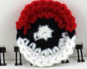 Crocheted Monster-Catching Ball Patch - Red