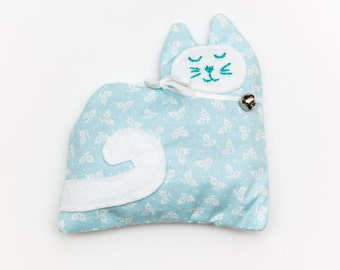 Light Blue Lavender Kitty Sachet, Aromatherapy Sachets, Stocking Stuffers