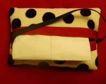 Auto Tissue Caddy, Vote reminder, blue n beige