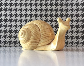 Vintage Ceramic Snail Figurine FREE SHIPPING