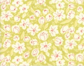 Coney Island - Buttercups in Limesicle Green: sku 20285-17 cotton quilting fabric by Fig Tree and Co. for Moda Fabrics - 1 yard