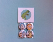 Rick and Morty Pin Pack - One Inch Pinback Buttons