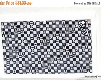 25% OFF Black White Chess Corkboard, Cork Bulletin Board, Tack Board, Cork Pin Board, 17x11 Cork Message Board, Dorm Decor, Gift For Him