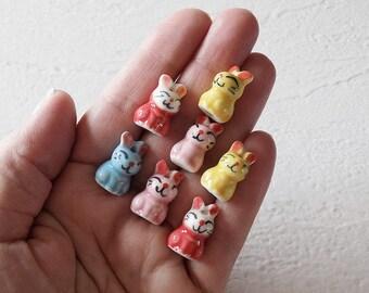 Ceramic Bunny Beads