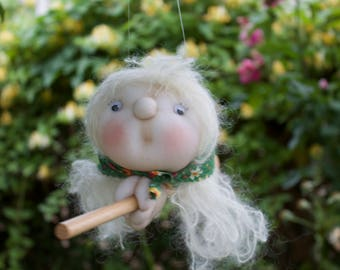 Bernadette the Kitchen Witch - Kitchen Witch Doll - Herb Witch - Green Witch - Good luck doll for your kitchen!