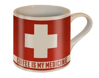 Coffee is My Medicine Mug by Trixie & Milo - Ceramic Mug - Comes in a FUN GIFT BOX - Birthday/Holiday Gift/Anniversary Gift